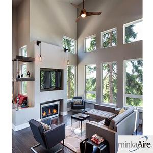 设计师风格吊扇现代创意极简吊扇家居酒店餐饮吊扇自带灯吊扇