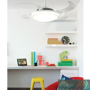 美式简约透明扇叶吊扇灯餐厅会客室优雅静音吊扇灯多用途吊扇灯